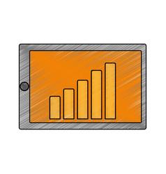 Statistics bars growing vector