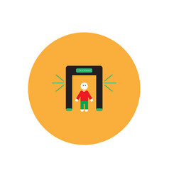 Stylish icon in color circle people scanner vector