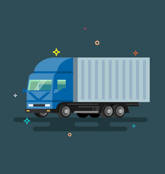 Truck delivery vector