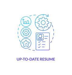 Up-to-date resume concept icon vector