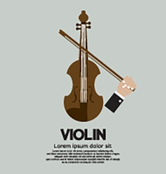Violin Stringed Musical Instrument vector image