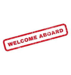 Welcome Aboard Rubber Stamp vector