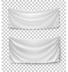 white banner flags transparent background vector image