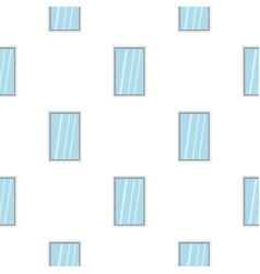White window frame pattern flat vector