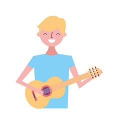 young man playing guitar vector image