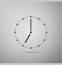 clock flat icon on grey background vector image