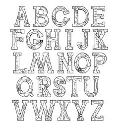 Coloring alphabet vector image vector image