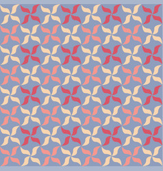 floral petals seamless geometry pattern vector image