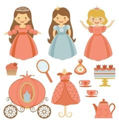 Princess tea party vector image vector image