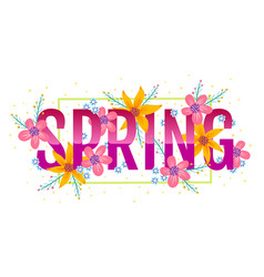 banner for spring vector image