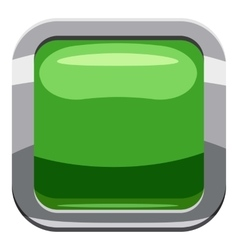 Light green square button icon cartoon style vector image vector image