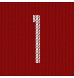 modern red knitted texture vector image vector image