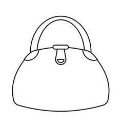 woman handbag fashion style thin line vector image