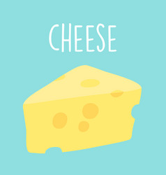fresh tasty cheese graphic vector image vector image