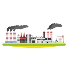Industrial factory landscape Buildings with smoke vector image vector image