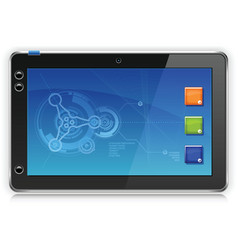 iPad Touchpad Tablet Computer vector image vector image