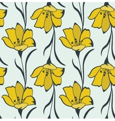 Seamless Flower Buttercup Pattern vector image