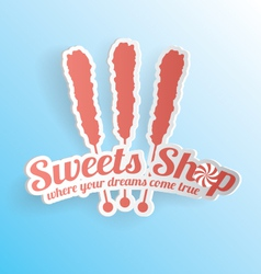 Sweets Shop Candy Label vector image