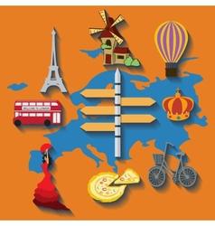 europe flat travel vector image