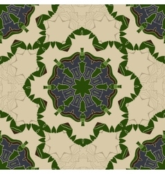 Vintage Card with Green mandala pattern and vector image vector image