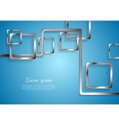 Abstract tech metallic elements vector image