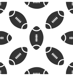 American Football ball icon pattern vector image