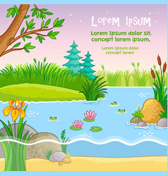 background with nature vector image