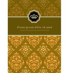 Baroque Floral Card vector