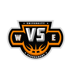 Basketball vs sports logo emblem vector