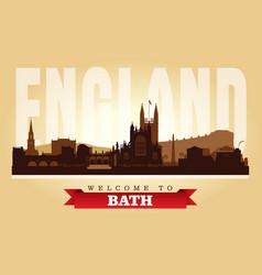 Bath united kingdom city skyline silhouette vector