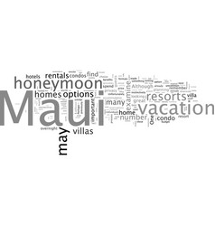 Best accommodations for your maui honeymoon vector