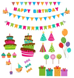 Birthday Set vector