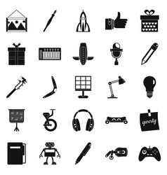 boon icons set simple style vector image