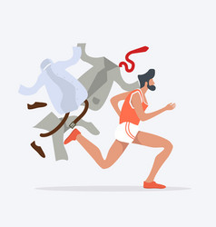 Businessmen hurry running vector