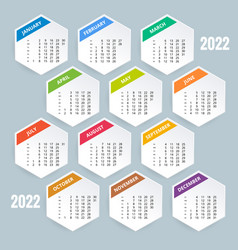 Calendar planner for 2022 calendar template for vector