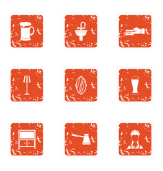 Cash transfer icons set grunge style vector