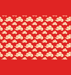 chinese cloud seamless pattern vector image