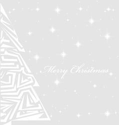 Christmas tree up close vector