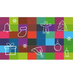 collection of different christmas items christmas vector image