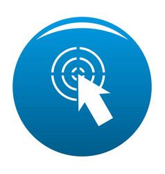 cursor shape icon blue vector image