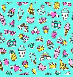 Cute pins seamless pattern vector