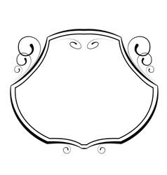 Decorative frame on white background vector
