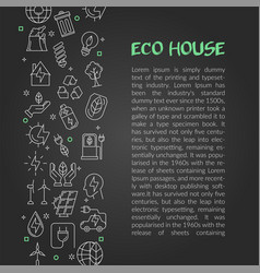 design of article about eco house vector image