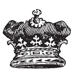 Duke coronet is worn by an emperor vintage vector