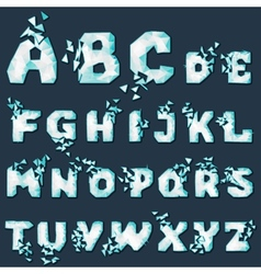 Dynamic crumble font vector