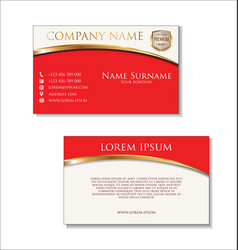 elegant business card design template 02 vector image