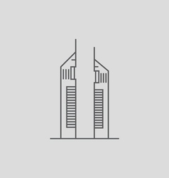 Emirates Towers vector image