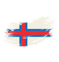 Faroe islands flag grunge brush background vector