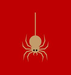 Flat icon stylish background halloween spider vector