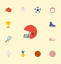 Flat icons reward ball rugby and other vector